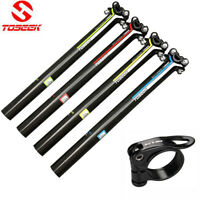 TOSEEK Carbon Fiber MTB Road Bike Seatpost Cycling Seat Post 27.2/30.8/31.6mm