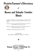 Brown Schuyler county Illinois IL genealogy history