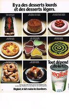 PUBLICITE  1973   REGILAIT   lait pour les desserts