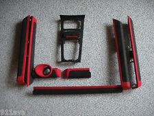 PORSCHE CAYENNE S GTS TURBO S 2011 14 BLACK / RED ALCANTARA DASH & DOOR TRIM