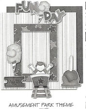 *Fun Day* My Mind'S Eye Complete Kit 2 12X12 Layouts Diecuts & Cardstock Nla