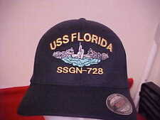 Uss Florida Ssgn - 728 official Flexfit command ball cap for Enlisted S/M