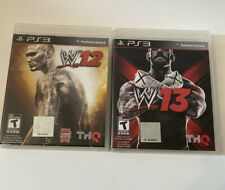 WWE 12 & WWE 13 PS3 Wrestling Games - Lot Of 2 PlayStation 3 Games