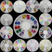 Hot  Nice Nail Art  Acrylic Glitters Tips Decoration Manicure Bead Wheel Gem