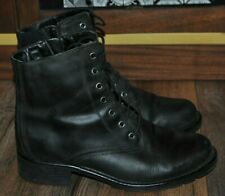 Clarks Leather Ankle Boots Lace Up Winter Black UK 6
