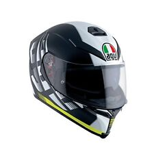 Agv 210041a2hy-017 Casco Integrale K5 K-5 S Multi Darkstorm Nero Matto-giallo MS