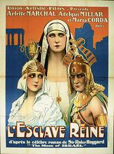 """L'ESCLAVE REINE (Michael CURTIZ 1924)"" Diapositive de presse originale"