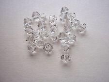 100 Swarovski® Kristall Perlen XILION Beads 6mm CRYSTAL (001) Art. 5328