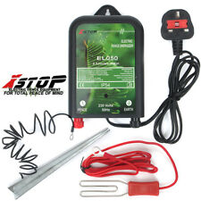 ELECTRIC FENCE ENERGISER 10km 230v 0.5J EQUINE PADDOCK 1 YEAR WARRANTY STAKE KIT