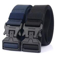 "2PCS 1.5"" Mens Nylon Tactical Belt Quick Release Magnetic Buckle Webbing Belts"