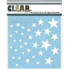 """Clear Scraps Stencils 12""""X12"""" Stars 812430019312"""