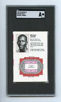 MICHAEL JORDAN Chicago Bulls 1984-85 ROOKIE Schedule SGC Graded / AUTHENTICATED