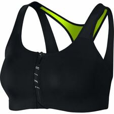 Nike Pro Zip Shape Sports Bra Support | Size X SMALL Colour: Black / Volt | NWT