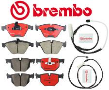 Front Brake Pads & Rear Brake Pads OEM Brembo Ceramic + Sensor BMW 335i xDrive
