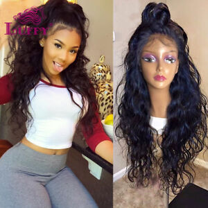 13*6 HD Lace Front Wigs Wave Pre Plucked Brazilian Human Hair Wig With Baby Hair