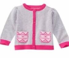 NWT Gymboree Girls Fair Isle Friends Gray Pink Cardigan Size 18-24 M