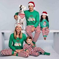 Family Matching Christmas Pajamas Set Women Baby Kids Elf Sleepwear Nightwear