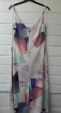 Womens Ladies New Fitted Sleeveless Pastel Coloured Midi Split Dress UK 8-16