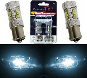 LED Light 80W 1156 White 6000K Two Bulbs Back Up Reverse Replace Upgrade Fit JDM