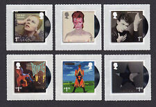 2017 DAVID BOWIE Stamp Set of Six Mint