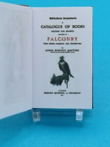 1:12 Scale Book, Bibliotheca Accipitraria, Falconry,1891 Crafted by ken Blythe