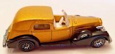 Hot Wheels 1935-Style CADILLAC Vintage 1981 Mattel Gold Metallic Black Accents