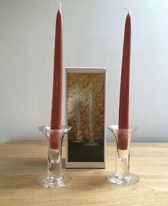 Dartington Glass Frank Thrower 2 FT367 Appledore Candlesticks with original box