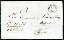 BLOMBERG 1855 SCHÖNER ZIERSTEMPEL BRIEF anch HORN(J4045