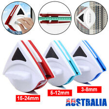 Magnetic Window Cleaner Double Side Glass Wiper Surface Cleaning Brush Pad3-24mm