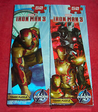 LOT OF TWO MARVEL AVENGERS IRONMAN 3 50 PIECE PUZZLES