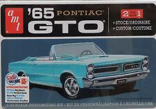 1965 PONTIAC GTO CONVERTIBLE AMT 1:25 SCALE 2-N-1 PLASTIC MODEL CAR KIT