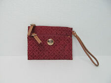 Tommy Hilfiger Red/Pink/Tan Signature Jacquard Clutch Wristlet