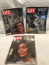 3 Vintage 1969 Life Magazines Mar 21, July 25, Sept 12 Bogart, Allen, Moon, King