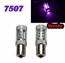 Strobe 7507 BAU15S PY21W 80W LED Bulb 150° Purple Rear Signal Light Lamp M1 MAR
