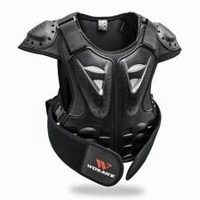 Kids Dirt Bike Back Chest Protector Gear Skiing Armor Vest Support Jacket Black