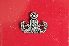 US ARMY MESS DRESS MINI MASTER EXP ORD DISP ANTIQUE SILVER QUALIFICATION BADGE