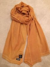 Peach 100% Pure Cashmere Wool Scarf Shawl Wrap Nepal Handmade Fine Knit Gift NEW