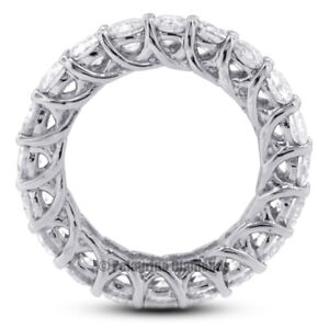 6 Carat H SI2 Round Cut Earth Mined Certified Diamonds 14kw Gold Eternity Band