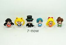 Lot 6 pcs New Sailor Moon Anime Mars Jupiter Chibi Pluto Action figures Toy 1.8""