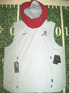 Nike Shield Alabama Crimson Tide Football On Field Team Hoodie Vest Jacket XL