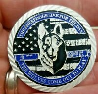 k9 challenge coin working dogs oath thin blue line blue lives matter Police dog