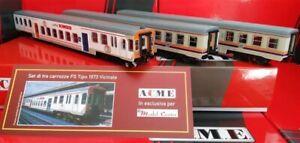 Acme 90148 - ESCLUSIVA MC Set 2 carrozze Piano Ribassato MDVC e Pilota KIMBO FS