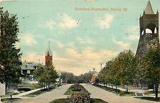 1907-1915 Printed Postcard; Hamilton Boulevard, Peoria Illinois IL Posted