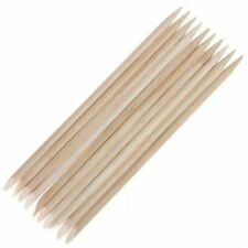 20 x Mini 11.5cm Nail Art Manicure Orange Wood Stick Cuticle Pusher Remover