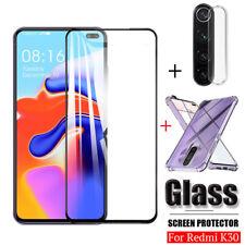 3 in 1 For Xiaomi Redmi K30 5G Premium 9H Tempered Glass Screen Protector Guard