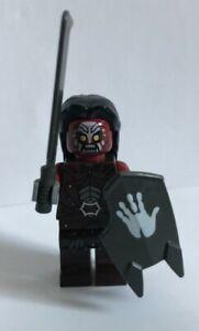 Lego Herr der Ringe Uruk Hai mit Schild (weiße Hand) und Haare