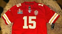 Patrick Mahomes #15 KC Chiefs Red Super Bowl 54 Jersey XXL