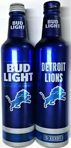 Bud Light Detroit Lions NFL empty 16oz Limited Edition beer can 503658 Bott Open