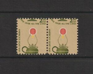 US EFO, ERROR Stamps: #1611 Americana Lamp. Color shift pair. MNH