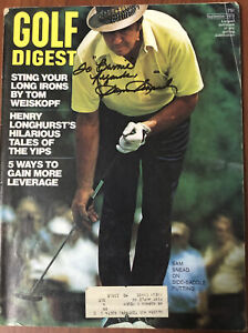 Sam Snead Signed - Autographed Golf Digest Magazine Sept 1973 Personalized